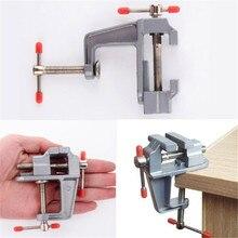цена на 1 Pcs 3.5 Aluminum Micro Vise Small Small Flat Pliers Jeweler Hobby Pliers Desktop Bench Vise Mini Tool Vice