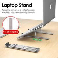 LINGCHEN-support pour MacBook Pro, support pour ordinateur portable, pliable en alliage d'aluminium, support pour tablette, support d'ordinateur portable pour ordinateur portable