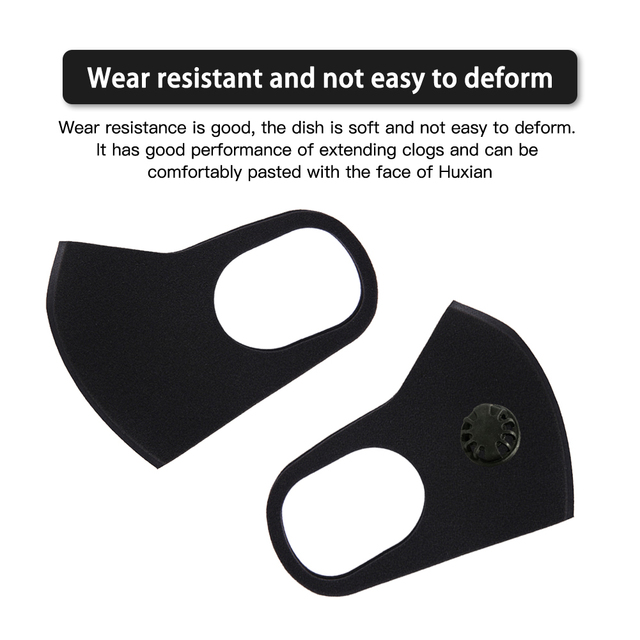 Reusable Face Mask With  Breath Valve Anti-flu Dust Anti Haze allergy Mouth-muffle Mask PM2.5 Single and double Air Valve 5
