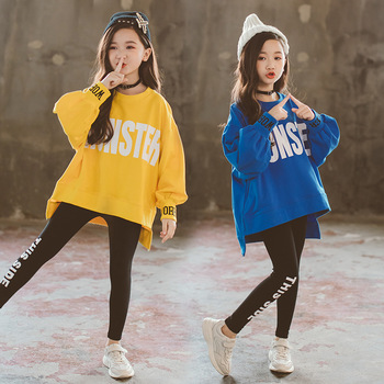 10 12 years Girls Tracksuits Spring Autumn Teen Girls Clothes Set Long Sleeve Sweatshirt + Pants Kids Girls Outerwear