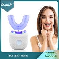 CkeyiN-cepillo de dientes eléctrico automático, en forma de U, luz azul, blanqueador dental, inalámbrico, recargable, Sónico, resistente al agua 51
