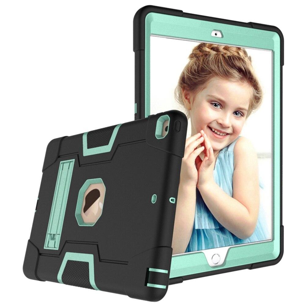 Black - Aqua Green For iPad 10 2 2019 7th Gen A2197 A2198 A2200 A2232 Case Shockproof Kids Safe PC