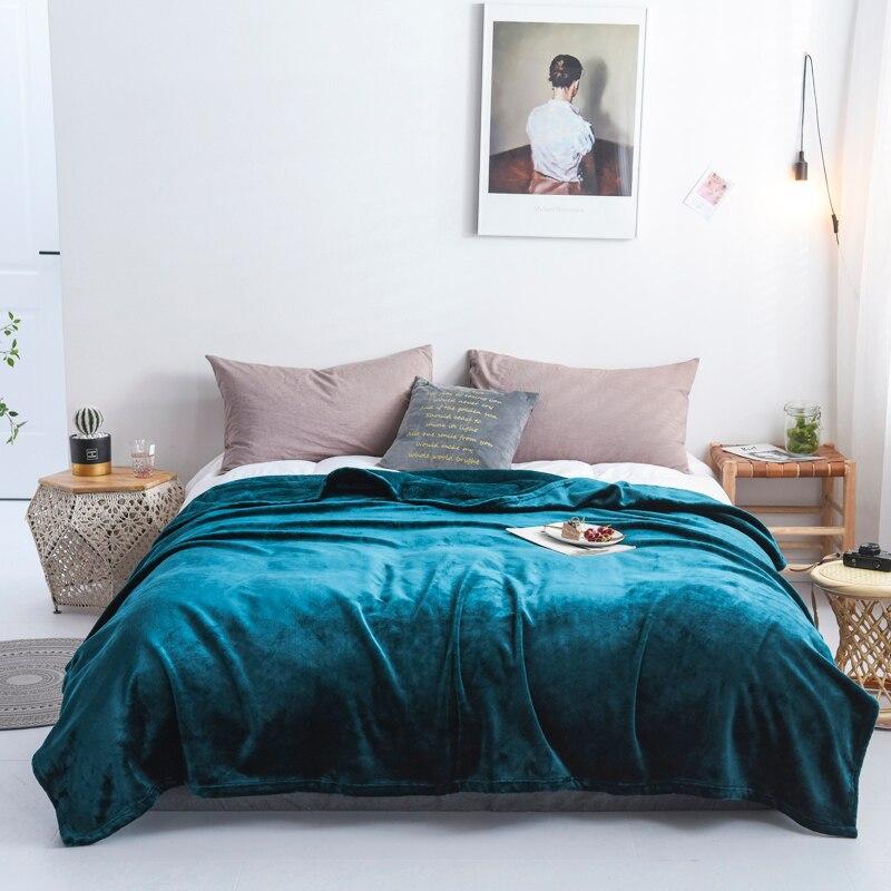 Роскошные 500Gsm толстые мягкие фланелевые одеяла из искусственного меха норки бросок двойной большое двуспальное покрывало зимние теплые одеяла