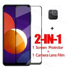 Volledige Lijm Glas Voor Samsung Galaxy M12 Screen Protector Gehard Glas Voor Samsung M12 Beschermende Phone Film Voor Samsung M12