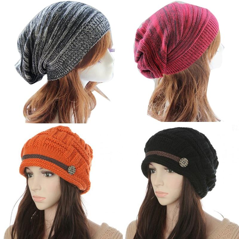 Women's Knitted Hat Soft Hip Hop Hats Skullies Beanie Caps Female Ladies Girls Hats Warm Hats Casual Beanies Autumn Winter Caps