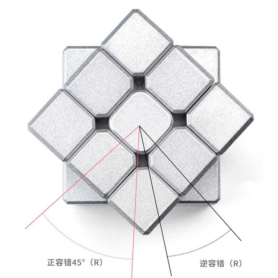 シルバーパズルマジックキューブ子供高品質の新マジックキューブゲームファッション立方マジコprofissional知育玩具OO50MF