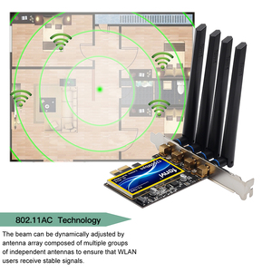 Image 3 - Dual Band 802,11 ac 1750Mbps BCM94360CD Bluetooth 4,0 Wi Fi Karte Desktop Hackintosh Mac OS PCIe Wifi Adapter Wireless 4 antennen