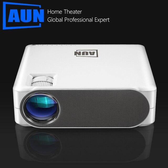 AUN 풀 HD 프로젝터 AKEY6/S, 6800 루멘 1920x1080P 홈 시네마 (옵션 안드로이드 6.0 WIFI) HDMI VGA for GYM 4K Video Proyector