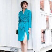 Office Lady Autumn Elegant  Femme blazer Dress Work Business