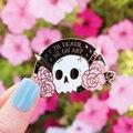 До смерти мы делаем арт твердым эмалиевым покрытием булавки в готическом стиле черного цвета с изображением розовых черепов, брошь в форме ...