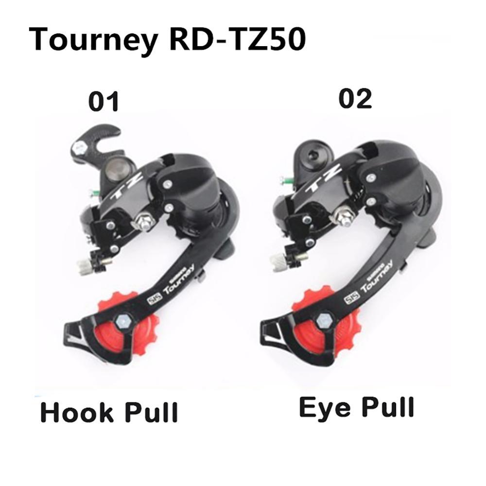 Transmissão da bicicleta de montanha RD-TZ50 discagem traseira olho dial/gancho desviador traseiro da bicicleta adequado para 5/6/7 velocidades