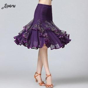 Image 1 - Sale New Ballroom Dance Skirts Women Latin Tango Modern Dancing Skirts National Standard Waltz Flamenco Competition Dance Dress