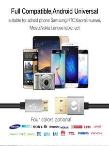 Micro-Usb-Cable Tablet Fast-Charge Mobile-Phone Xiaomi Android Samsung Nylon for Xiaomi/Lg/Tablet/..