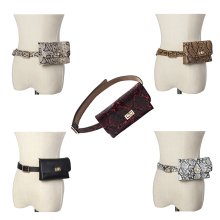 New Fashion Vintage snake pattern PU leather detachable belt mobile phone skin package