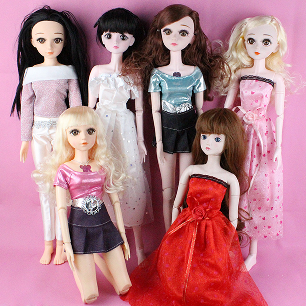 60cm Doll Clothes <font><b>BJD</b></font>/<font><b>SD</b></font> Wedding Suit Dress DIY Skirt 3 Points <font><b>Bjd</b></font> Doll Dress <font><b>1/3</b></font> Doll Accessories Girls Toys Dolls Wholesale image
