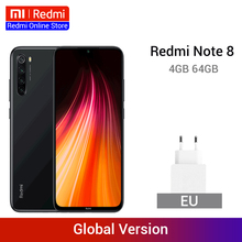 Оригинальная глобальная версия Redmi Note 8 4GB 64GB 48MP Quad Камера Смартфон Snapdragon 665 Octa Core 6,3 FHD Экран 4000 мА-ч