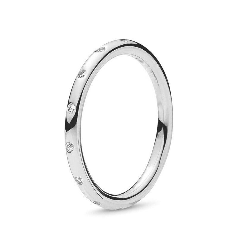 Кольцо на палец в форме сердечко серебряного цвета для женщин, европейская оригинальная Корона, изящные кольца на палец, свадебные украшения, 50 стилей, Прямая поставка - Цвет основного камня: Rings 046