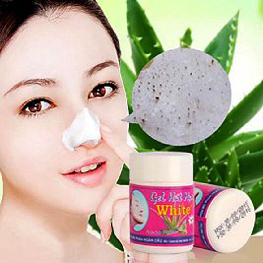 New White Aloe Vera Gel cleanse Nose Strips to Remove Blackheads Shrink Pores Cleansing Lotion Acne Nose Paste 22g 2