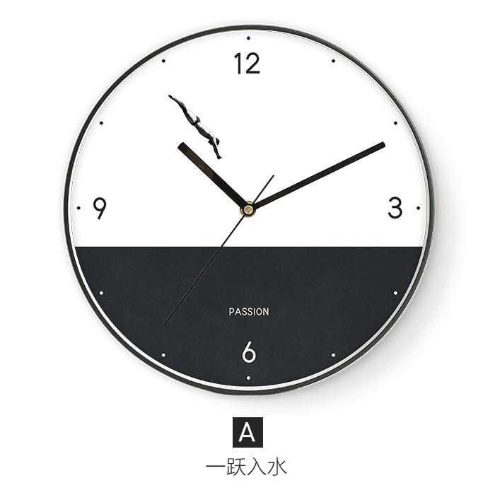 Minimalist Wall Clock Art Design Silent Quartz  Brief  Mute Wall Clock Stylish Zegar Scienny Creative Home Decoration Hot SS60WC