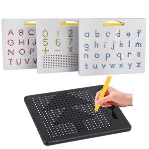Магнитный планшет, магнитная накладка, доска для рисования, стальная шариковая ручка, шариковая ручка, Обучающие Развивающие игрушки для пи...