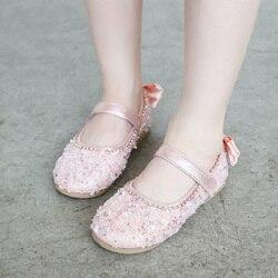 1 par Sequin Crianças Meninas Princesa Sapatos Anti-slip Respirável Moda para Festa M09