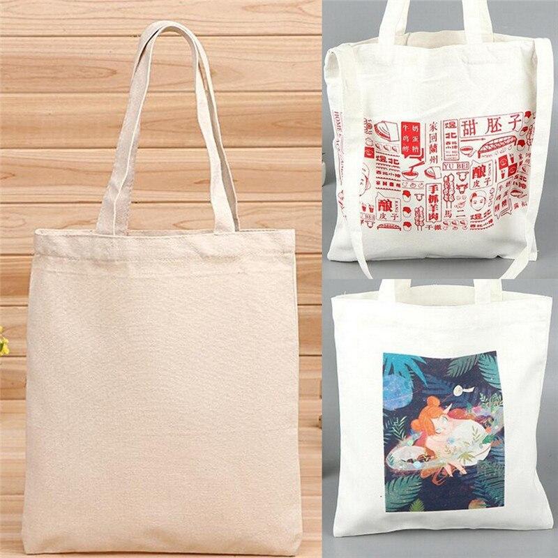 Creamy White Natural Cotton Plain Canvas Shopping Shoulder Top Tote Shopper Bag|Shopping Bags|   - AliExpress