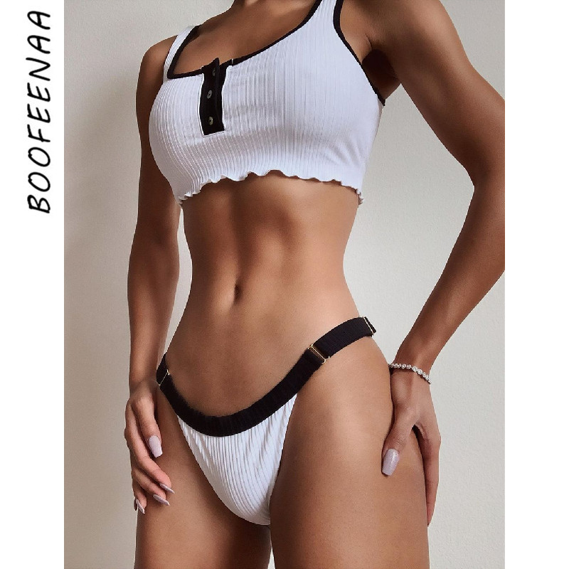 BOOFEENAA White Knitted Sexy 2 Piece Sets Womens Beach Outfits Crop Top And Shorts Matching Sets Summer Clothes For Women C34H01
