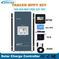 Epever 50A 60A 80A 100A MPPT Solar Laderegler 12V 24V 36V 48V Auto Hintergrundbeleuchtung LCD solar Regler Unterstützung WIFI MT50 Remote
