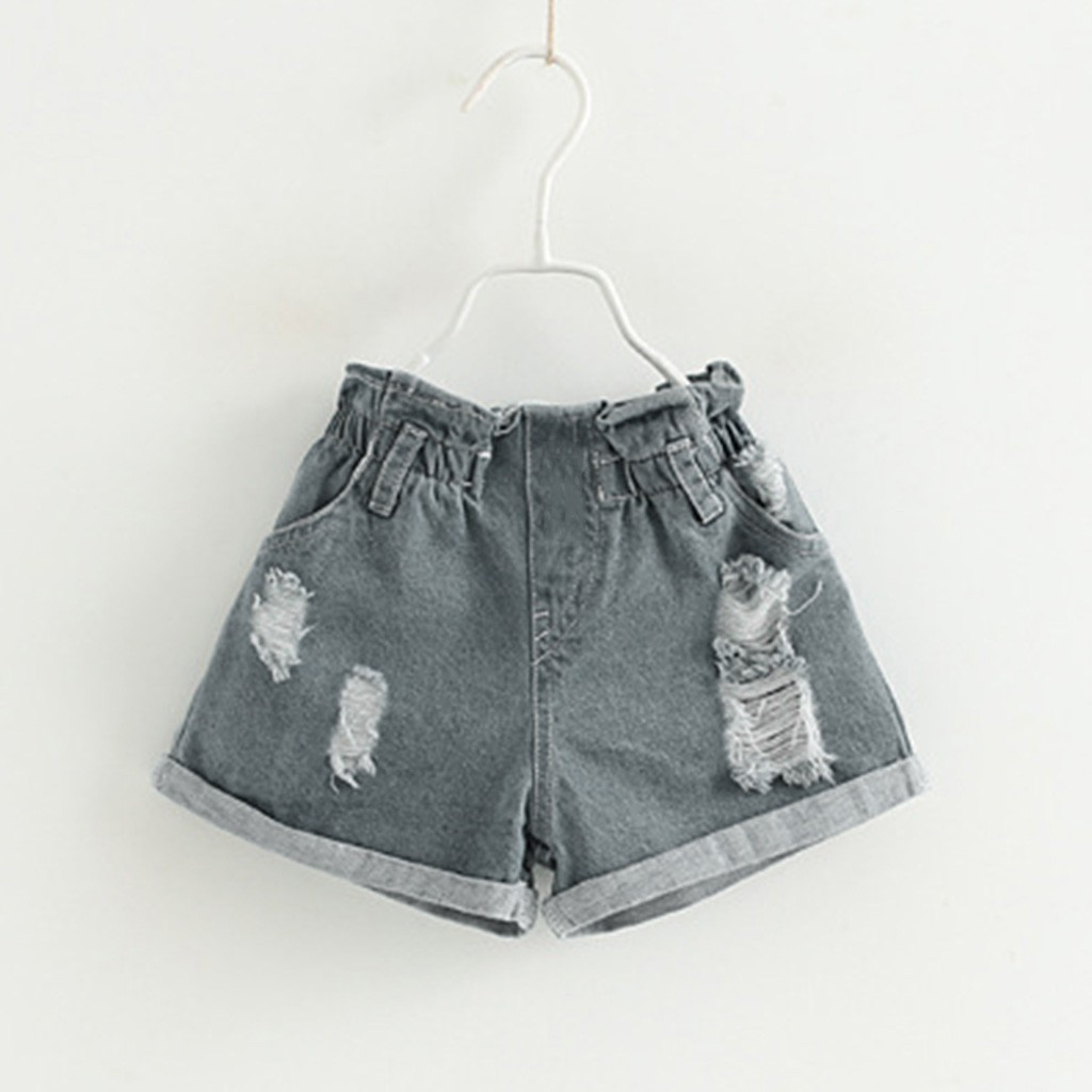 baby girl summer clothes Toddler Kids Baby Girl Outfits Clothes Embroidery T-shirt+Denim Shorts Jeans Set 3