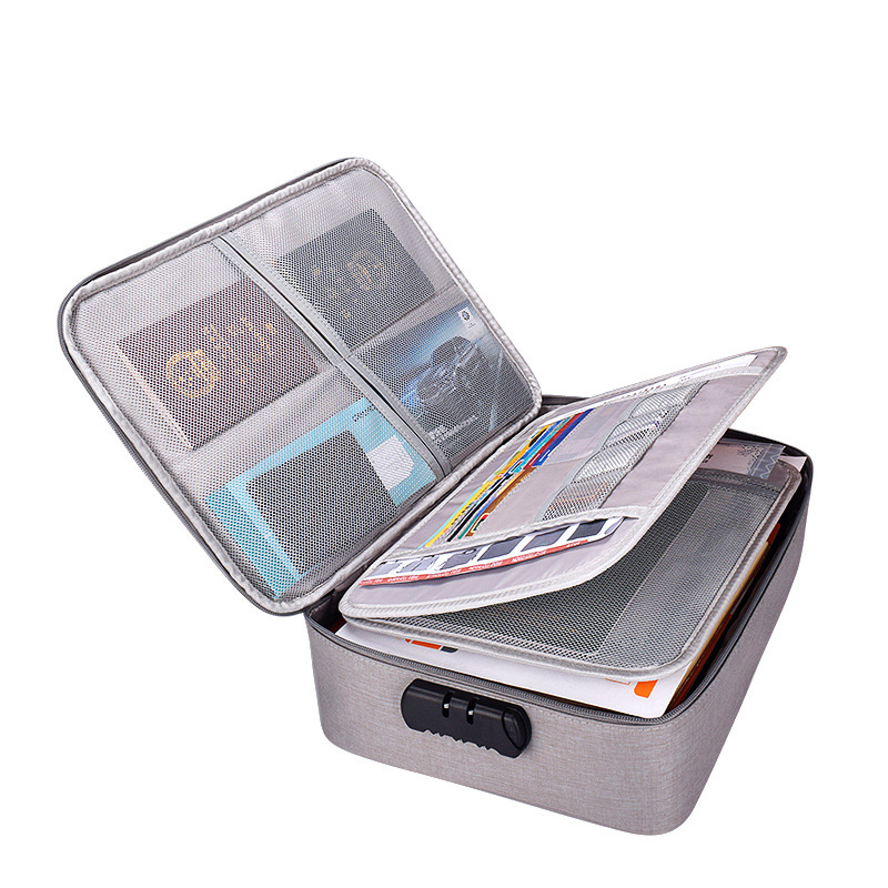 A4 File Folder with Lock Multifunctional Storage Filing Products Large Document Bag Big 6 Layers Portfolio Organizer Holder Box