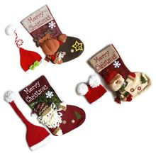 2 Pcs Set Photography Props Xmas Santa Boots Baby Costume Stocking Sleeping Bag
