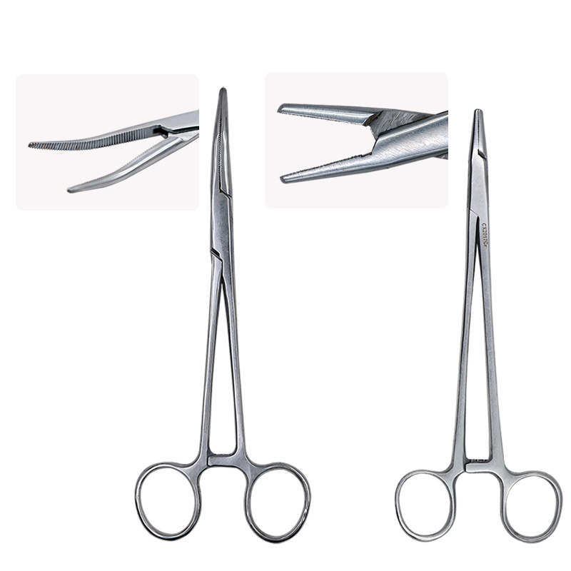 1pc Stainless Steel Needle Holder Forceps Surgical Forceps Surgical Tool kit Hemostatic Clamp Forceps Pliers Straight/Elbow Tips