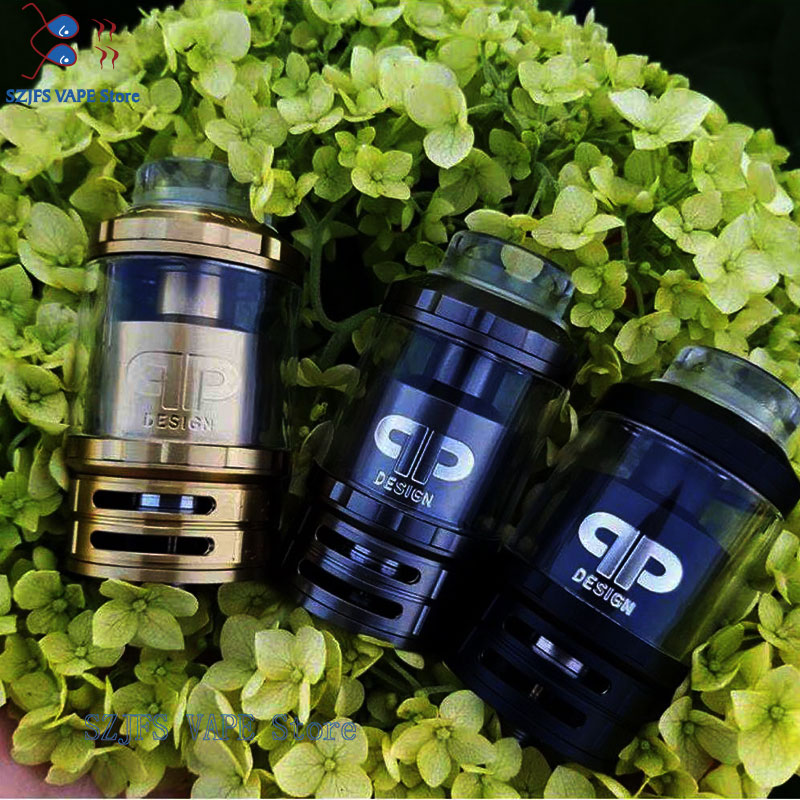 QP Designs Fatality M25 RTA Tank 25mm 4ml/ 5ml Dual Single Coil 810 Drip Tip Top Filling Rebuildable RTA Vs Gtr Juggerknot Rta