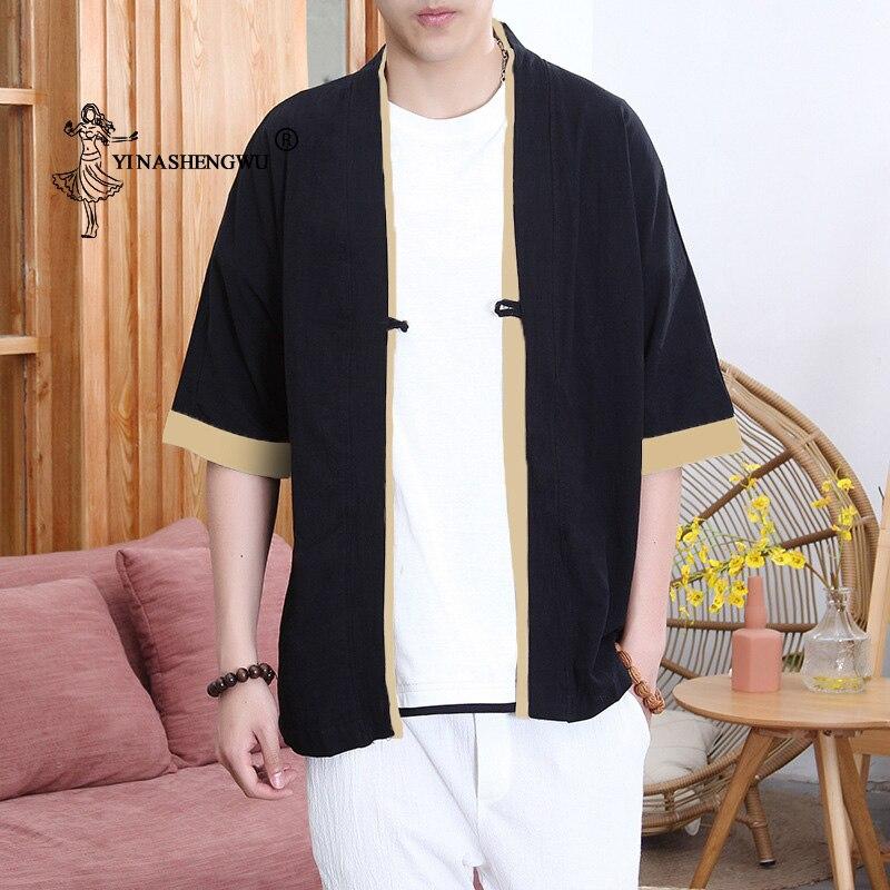 Kimono Cardigan Men Japanese Kimono Traditional Beach Thin Holiday Kimono Cosplay Costume Print Yukata Male Fashion Casual Shirt