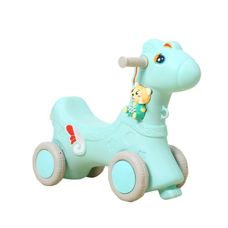 Young-Piece Adult CHILDREN'S Rocking Chair Plastic Small CHILDREN'S-Year-Old Trojan Early Education Rocking Horse Baby AliExpres
