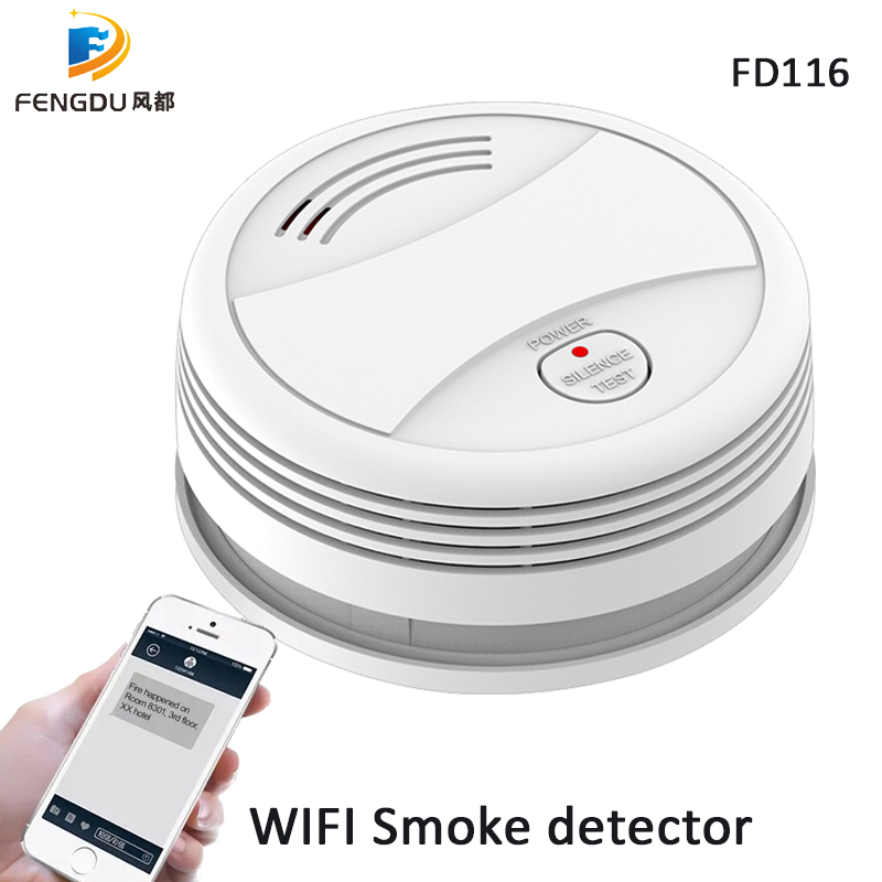Energy Saving Tuya Smart Life APP Wifi Smart Home Security Smoke And Low Power Consumption Office/Home Smoke Alarm