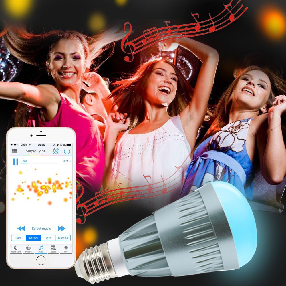 10W Magic Stage Light Pro WiFi Smart LED Light Bulb Smartphone Controlled Dimmable Multicolored Change Lamp for iPhone IOS Andro|Stage Lighting Effect| |  - title=
