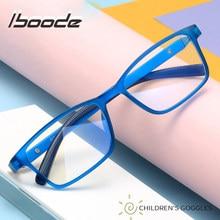 Iboode – lunettes carrées pour enfants, monture de lunettes anti-rayons bleus, Vintage, Ultra légères, pour garçon et fille, pour ordinateur, verres optiques