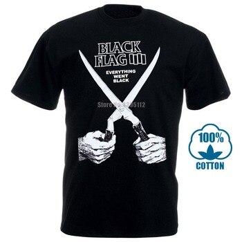 2017 New Fashion Mens T-Shirt Brand Clothing Black Flag Everything Went Black Slim Straight T-Shirts O-Neck 012906