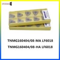DESKAR TNMG160404 HA MA LF6018 TNMG160408 karbür uçlar sert alaşım torna torna aracı için paslanmaz çelik