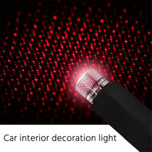 Usb Decoratieve Lamp Led Auto Dak Star Night Light Projector Verstelbare Meerdere Lichteffecten Sfeer Galaxy Lamp(China)