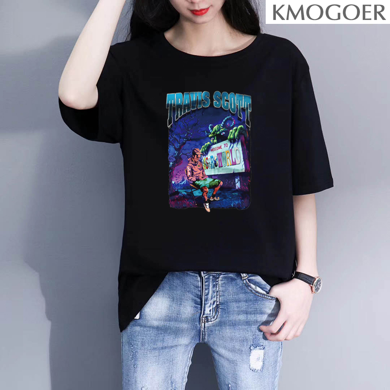 Astroworld T Shirt O-Neck Short Ulzzang Men Women T Shirts Hip Hop Graphic Tee Streetwear Comfort Soft Shirt 90S