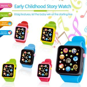 6 Color Multifunctional Touch Screen Simulated Watch Toddler Children Plastic Digital Watch Analog Smart Watch Education Toy