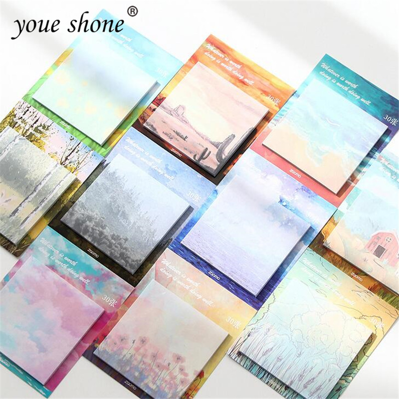 Novelty painting notebook color tear message sticker notebooks N times stickers children gifts office school supplies
