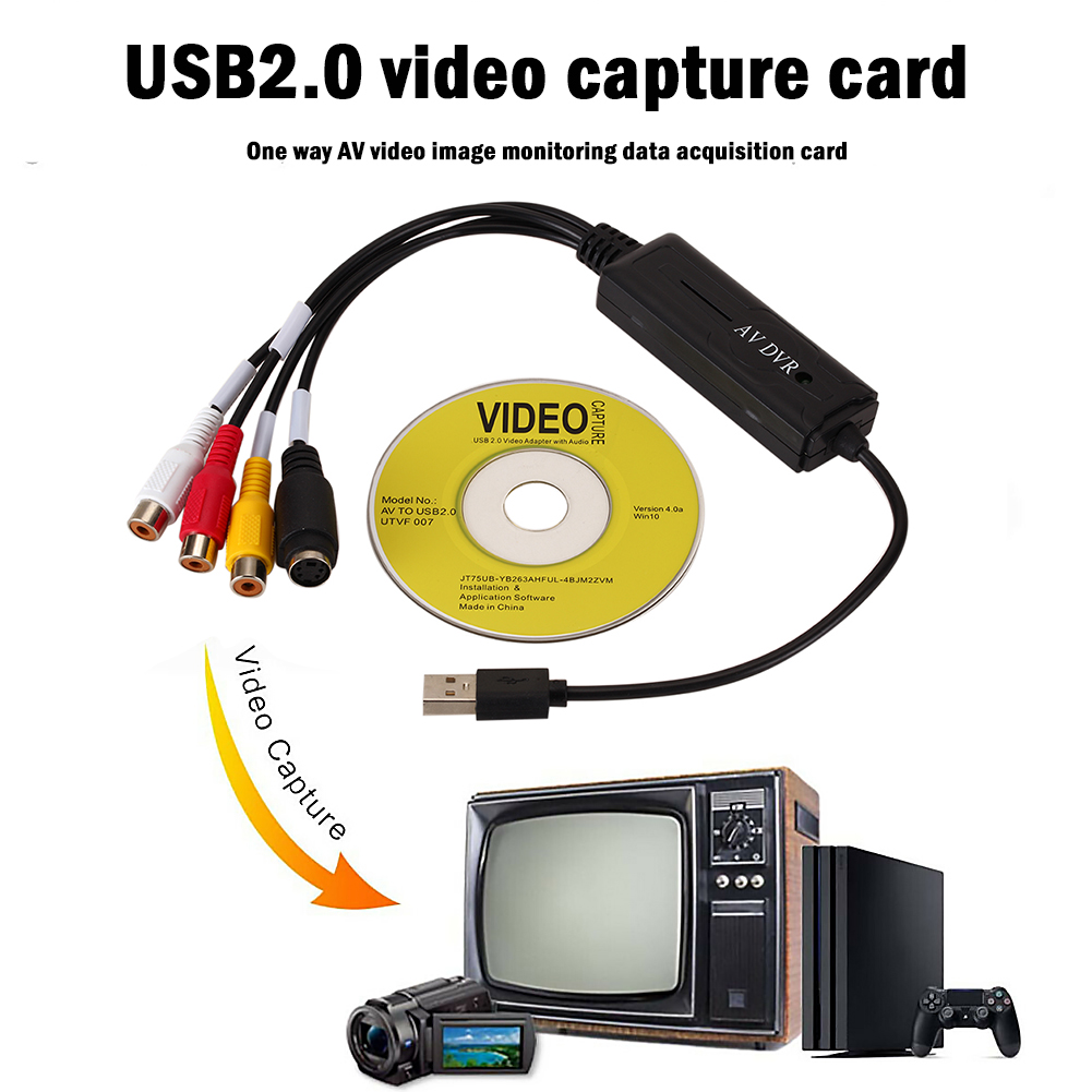 Portable Easy to cap USB2.0 Audio Video Capture Card Adapter VHS To DVD Video Capture Converter For Win7/8/XP/Vista 3