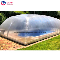 Large inflatable Clear Dome Tent Waterproof Inflatable Clear Transparent Pool Cover Dome Tent