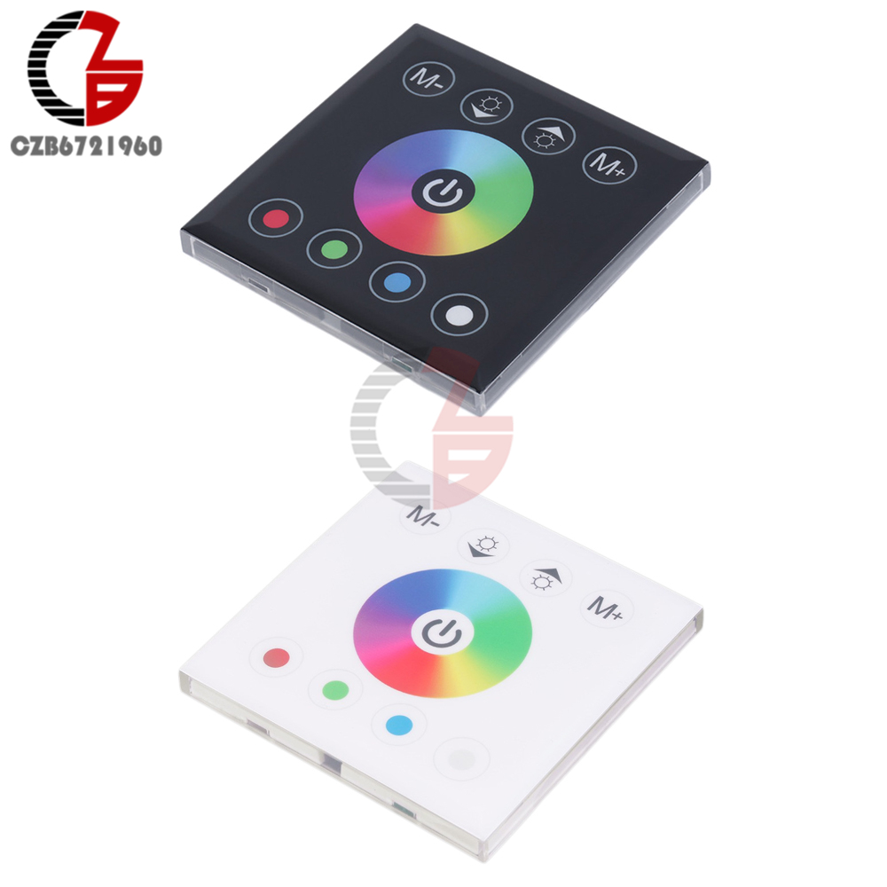 DC 12V 24V RGB RGBW Controller Wall Mounted Touch Panel Dimmer Switch For 2835 3528 5050 LED Strip Light Lamp