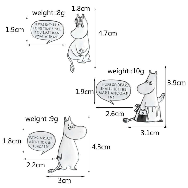 สนุกสัตว์ Pins Hippo ใบเสนอราคากระต่ายผสมพันธุ์ตลกเข็มกลัดป้ายกระเป๋าอุปกรณ์เสริม Enamel Pins ของขวัญเครื่องประดับสำหรับเพื่อน