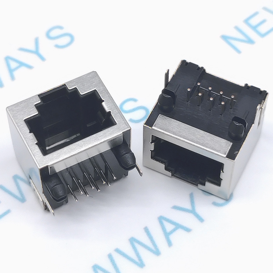 10 pçs/lote interface de rede rj45 soquete sem lâmpada fêmea 8p8c cabo soquete