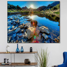 Landscape Canvas Painting Lake Scenery Poster And Prints Modern Room Home Decoration Wall Art Picture For Living Room Home Decor canvas painting primeval forest landscape wall artposter and print modern home decoration wall picture living room office decor